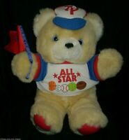 "16"" BIG VINTAGE DAN DEE TEDDY PRECIOUS ALL STAR BEAR STUFFED ANIMAL PLUSH TOY"
