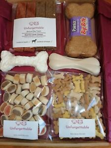 Dog Treat Box gift hamper present biscuit doggy puppy christmas
