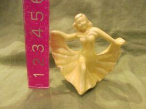 Vintage McCoy Pottery or Shawnee Yellow Art Deco Dancing Lady Figurine