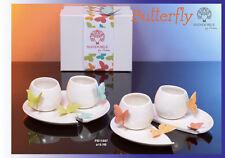 Set tazzine in porcellana Collezione Butterfly di Mandorle by Paben - bomboniere
