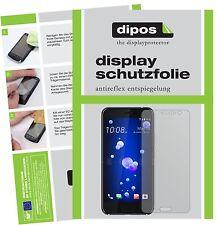 2x HTC U11 Schutzfolie matt Displayschutzfolie Folie dipos