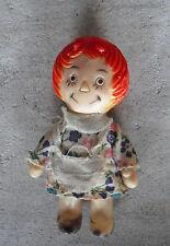 "Vintage 1960s Vinyl Raggedy Ann Andy Figurine 3 1/2"" Tall"