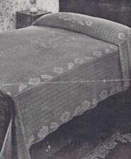 Vintage Crochet PATTERN MOTIF BLOCK Bedspread Monogram