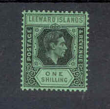 Leeward Islands KGVI 1938-51 1/- black & grey SG110bb, mm