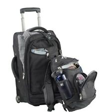 High Sierra 22 Wheeled Carry-On Luggage with Removable Day Pack Backpack Black