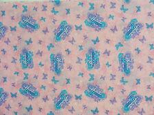 Cheater Quilt Fabric By The Yard, Hannah Montana Logos Butterflies-N5