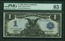 1899 $1 SILVER CERTIFICATE, BLACK EAGLE, FR235, UNCIRCULATED CERTIFIED PMG-63EPQ