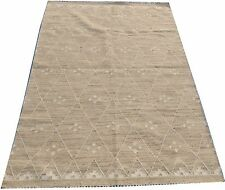 4x6 Hand-Woven Dhurie Kilim Pure Wool Flat Weave Oriental Carpet