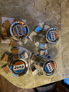 Jeep Wagoneer, Cherokee, wheel center caps. Red, White & Blue