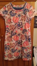 Beautiful Ladies Boden Needlecord Pink Floral Tunic Lined Dress Size 10R - VGC