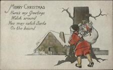 Christmas - Santa Claus Hand Colored - Frank Swallow c1915 Postcard