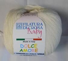 FILATURA DI CROSA BABY DOLCE AMORE COTTON YARN 1 BALL CREAM (21E)