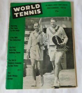 Vintage WORLD TENNIS December 1956 Sports Magazine