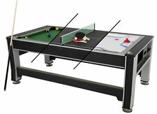 Triumph 3-in-1 Rotating Swivel Multigame Air Hockey, Billiards Pool, and Table