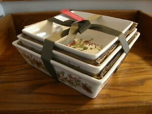 Set of 3:Williams Sonoma Woodland Berry Bakers-Christmas-Oven safe to 425°F.-New