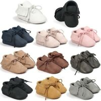 Newborn Infant Fashion PU Moccasin Tassel Shoes Boy Girl Baby Soft Sole Leather