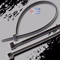 "Heavy Duty 100 piece 12"" Black Nylon Cable Zip Ties 60lb Wire Wrap Straps UL USA"
