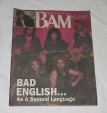 BAM LA's Music Magazine 11 Aug 1989 314 Bad English as a Second Language