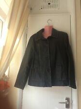 Ladies Pvc Jacket Size 14 Brown