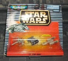 STAR WARS MICRO MACHINES ANH X-WING VADER TIE Y-WING 3 PC MINI SHIP SET III