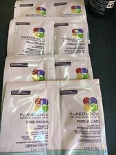 Pureology Pure Volume Shampoo & Conditioner  ( 4 SAMPLE PACKS OF EACH ) Sealed!