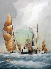 Alan Stark Signed Limited Edition Sailing Print Full Ahead Seascape Nautical