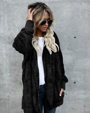 Plus Size Women Winter Fluffy Sweater Cardigans Ladies Long Sleeve Loose Outwear
