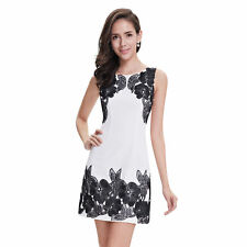 Regular Size Floral Polyester Sheath Dresses for Women