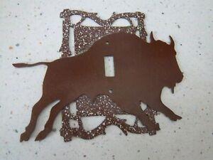 BUFFALO Single Metal Light Switch Cover Plate Wildlife Home Decor Lodge Cabin