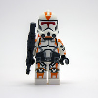 Lego Star Wars Custom Clone Commander Deviss Jet / Desert Tech Rifle & Backpack