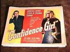 CONFIDENCE GIRL 22X28 MOVIE POSTER '52 BAD GIRL