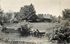 Nashville Indiana~Real Photo Abe Martin Lodge~Brown St Park & Grandma Moses~1951