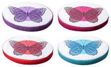 Sitzkissen Stuhlkissen Kissen Auflage Schmetterling Motiv  Ø ca. 40 cm 4 Farben