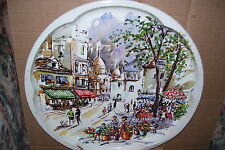 Vintage Daher Decorated Ware Street Scene Park Food Drink Serving Tray