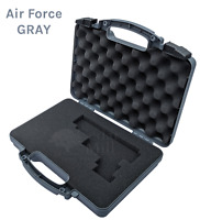 AIR FORCE GRAY Pluck & Foam Pistol Case Hard Lockable Airline TSA Approved - XL