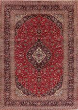 Excellent Traditional Floral Signed Kashaan Area Rug Hand-made Living Room 10x14