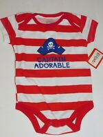 Pirate Infant Baby 0 3 6 9 Months  One Piece Boy CAPTAIN ADORABLE