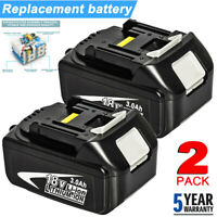 2X For Makita BL1830 18V LXT Lithium BL1840 Battery 2 Pack BL1815 BL1845 18 Volt