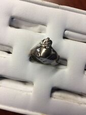 Celtic Irish Claddagh Sterling Silver Ring Size 6