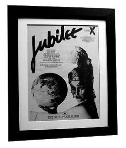 JUBILEE+Punk Film Soundtrack+POSTER+AD+ORIGINAL 1978+FRAMED+EXPRESS GLOBAL SHIP