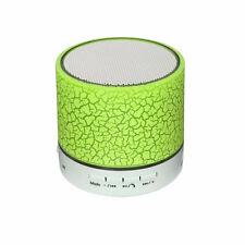 Lime Green LED Designer Mini Bluetooth Portable Speaker Wireless Mobile Speakers
