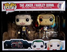 SUICIDE SQUAD - The Joker + Harley Quinn - Funko Pop! Limited Metallic