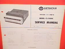 1970 HITACHI 8-TRACK STEREO TAPE PLAYER FACTORY SERVICE MANUAL MODEL CS-1100IC