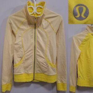 Lululemon Blissed Out Sizzle Yellow Jacket Sweater Size 6 Small Yoga