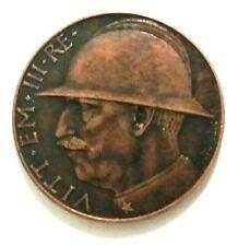 20 LIRE 1928 - ITALY - VICTOR EMMANUEL III - SOUVENIR COIN MADE OF COPPER