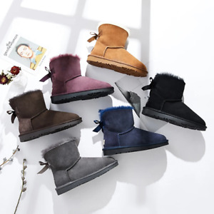 【LAST CHANCE】Ever UGG Mini Women Boots with Bailey Bow