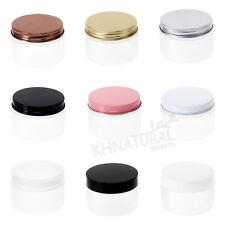 4oz 120ml Frosted Translucent PET Jars w/ Cap Plastic / Metal Screw Lid Empty