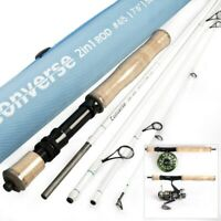 Maxcatch Travel Spin/Fly Fishing Rod 2in1 7ft6 4/5wt 5sec Fast Action