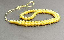 Islamic 66 prayer ROUND Baltic amber yellow rosary. R06