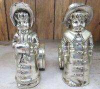 Vintage KATE GREENAWAY Victorian Boy & Girl Napkin Rings Meridian Britannica